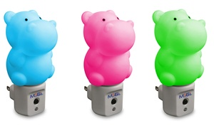 Mobi Hippo LED Color-Changing Nightlight