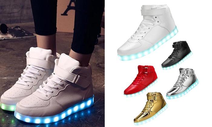 6b4e59ba3a67 LED High Top Sneakers