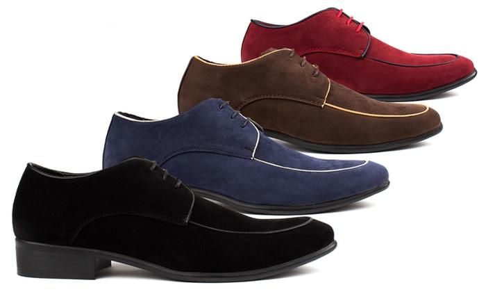 Royal Men's Moc-Toe Lace-Up Dress Shoes