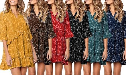 Polka Dot Ruffle Summer Dress