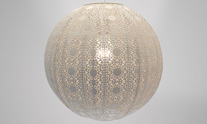 Moroccan ball metal light shade groupon goods groupon goods global gmbh moroccan ball metal light shade for 1699 aloadofball Gallery