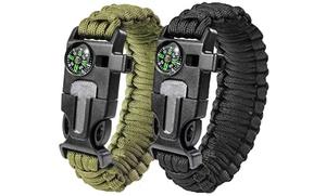 Survival Paracord Bracelets (2-Pack)