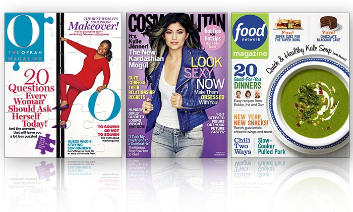 Hearst Magazines: $10 for Two One-Year Magazine Subscriptions (Up to $30 Value). 21 Titles Available.