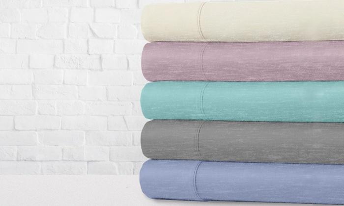 300tc 50 Cotton Exquisite Hotel Collection Jersey Knit Sheet Set