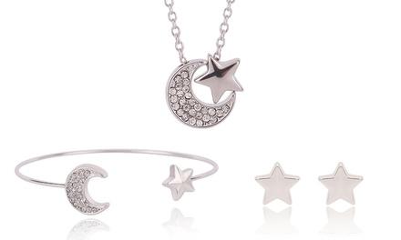 Parure Stars and the Moon de la marque Libere ornée de cristaux Swarovski®