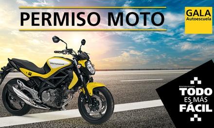 Curso para obtener el carné de moto A1 o A2 con 3 o 4 prácticas en Autoescuela Gala (con 64% de descuento)