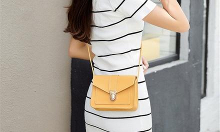 Women's Gold Colour Clasp Bag