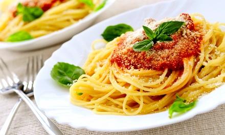 Menú italiano para 2 o 4 personas con entrante, principal, postre y bebida desde 19,90 € en Mamma Mia