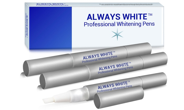 DazzlingWhiteSmileUSA: $17.99 for a Three-Pack of Professional Teeth-Whitening Pens from DazzlingWhiteSmileUSA ($117 Value)