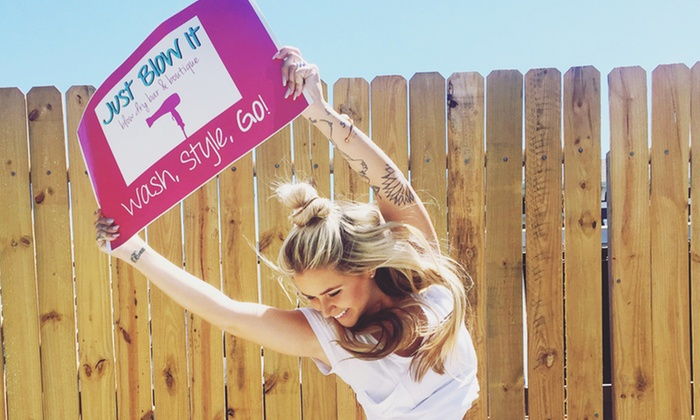 Just Blow It - Orlando: $55 for Three Social Styling Sessions at Just Blow It ($105 Value)