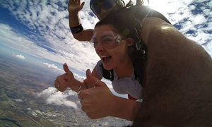 Goulburn Flight Training Centre: $219 (+$37 APF Levy and CI Charges) for Tandem Skydive Up to 15,000ft with Adrenalin Skydive Goulburn (Up to $340 Value)