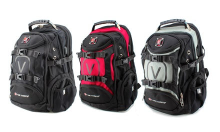 One or Two Laptop Backpacks with USB Charging Ports from AED 99