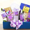 Relaxing Lavender Bath and Wine Gift Basket. Shipping Included