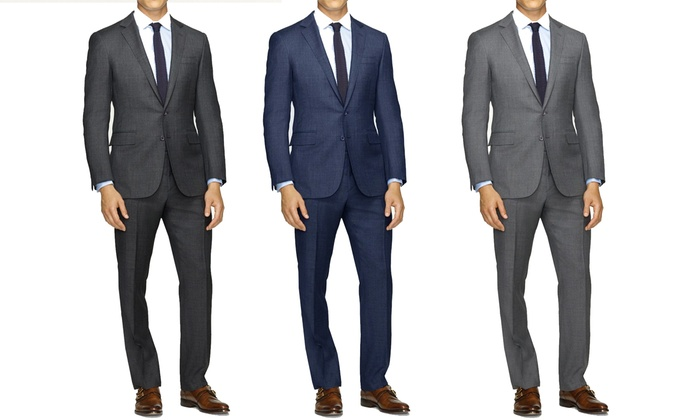 Joel Orris Slim-Fit Sharkskin Suit (2-Piece)