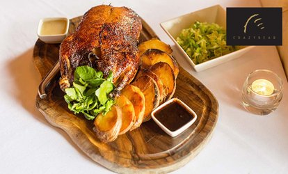image for Three Course Sunday Lunch and Premium Champagne at The Crazy Bear £24.95 (50% off)