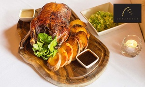 The Crazy Bear Group: Three Course Sunday Lunch and Premium Champagne at The Crazy Bear £24.95 (50% off)
