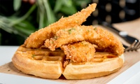 Waffles and Chicken with a Milkshake For Up to Four at Shaking Wings (Up to 62% Off)