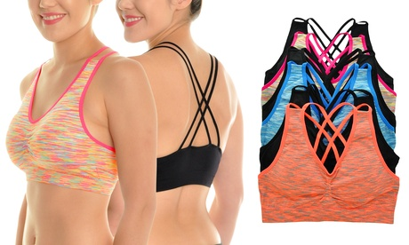 Angelina Seamless Criss-Crossing Sports Bras (6-Pack) 1fa08112-90a2-11e6-9af8-00259069d7cc
