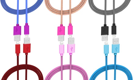 iHip Apple-Certified 5ft. Fiber Tangle-Resistant Lightning USB Cable