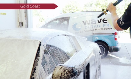 $75 for In and Out Mobile Car Detailing, Spray Wax, and Snow Foam with Waves DETAIL PRO Australia Up to $135 Value