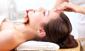 Full Bloom Beauty Bar: 75-Minute Custom Massage, 60-Minute Custom Facial and Mask, or Both at Full Bloom Beauty Bar (Up to 58% Off)