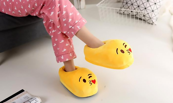 Rangeela General Trading L.L.C: Emoji Plush Slippers for AED 49 (62% Off)