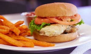 Brasserie Fish and Grill: Chicken burger and chips for two at The Brasserie Fish and Grill