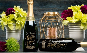 Custom-Etched Bottles of Wine from Miramonte Winery