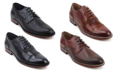 Gino Pheroni Men S Cap Toe Slip On Dress Shoe