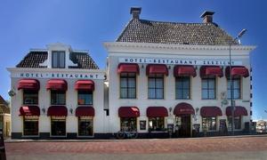 Harlingen: tweepersoonskamer met ontbijt en naar keuze driegangendiner bij Hotel Zeezicht Harlingen