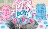 Baby Shower Gender Reveal Table Decoration Set (4-Piece; 3-Pack)