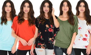 Lyss Loo Women's Dolman Top (3-Pack). Plus Sizes Available.
