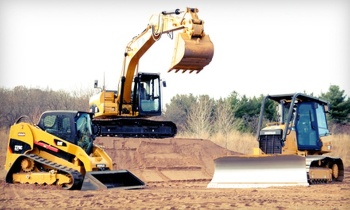 Extreme Sandbox - Hastings: 60- or 90-Minute Construction-Vehicle Driving Adventure at Extreme Sandbox (Half Off)