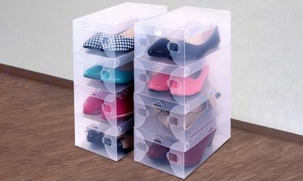 $29 for a 20-Piece Stackable Transparent Shoe Storage Box Set