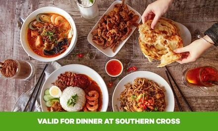 $28 , $55 or $68 to Spend on Malaysian Food and Drinks at PappaRich Southern Cross