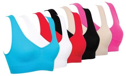 Pack de 6 brassières confort sans couture