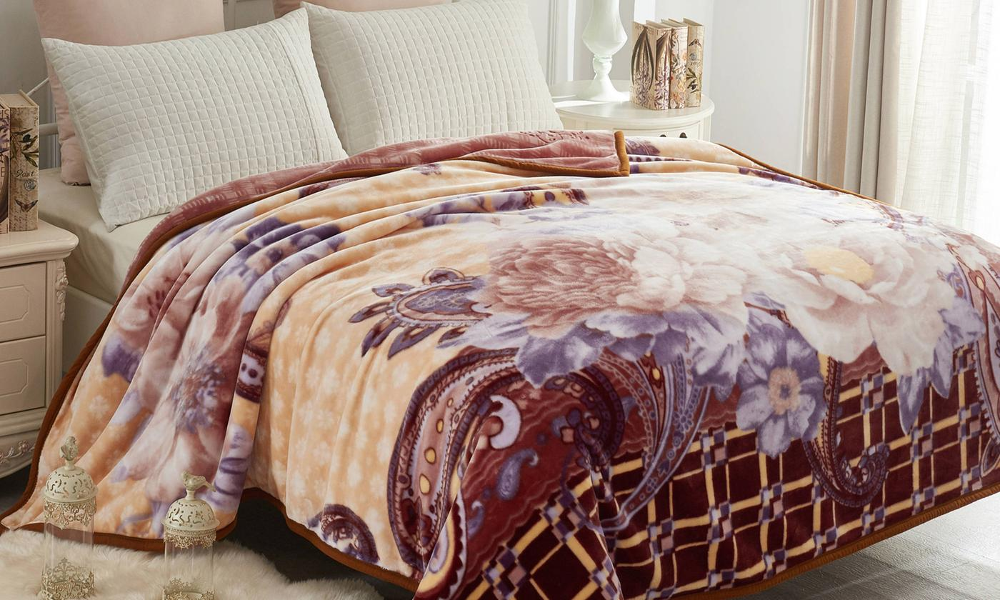 Reversible Embossed Korean Mink Blanket (Queen)