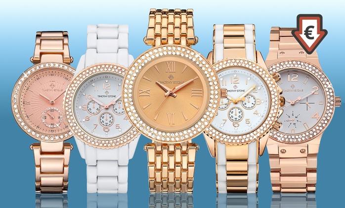 Montres ornées de cristaux Swarovski®,Timothy Stone, Best Of Or Rose dès 16,90€ (jusqu'à -87%) livraison offerte