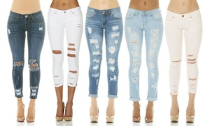 Women's Cover Girl Ripped Skinny Jeans