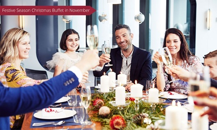 5* Wed or Thu Lunch Buffet with Wine for 2 ($79), 4 ($158) or 6 People ($237) at Cafe at the Hyatt (Up to $413.70 Value)