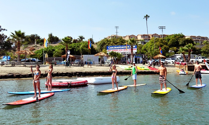 Carlsbad Lagoon - Carlsbad: $26 for Two-Hour Kayak, Canoe, SUP, Peddle Boat, or Aqua-Cycle Rental (Up to $50  Value)
