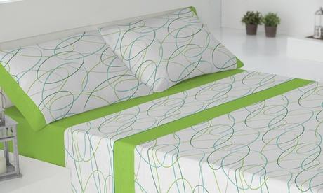 Juego de sabanas de 3 piezas con estampado para camas de 90 y 135 cm