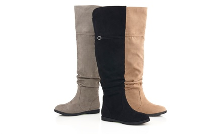 Sociology Over-the-Knee Slouch Boots | Groupon Exclusive
