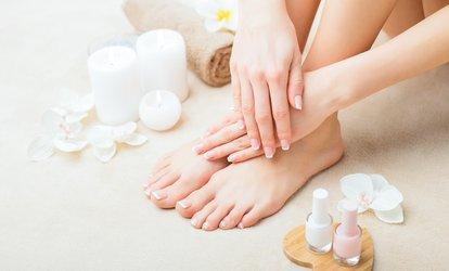 image for One Deluxe or Powdered Dip NexGen Manicure or Aromatherapy Pedicure at Nail Depot (Up to 32% Off)