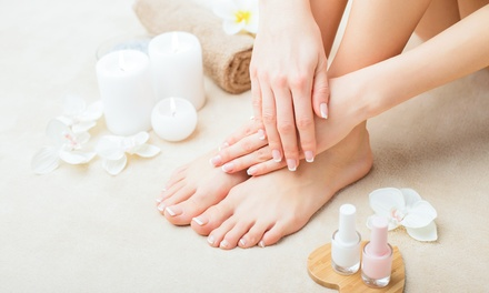 One Regular Manicure and Pedicure, at Osley Beauty Spa (Up to 60% Off)