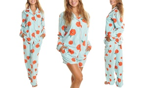 Women's Fleece Poppy Print Sets or Pajama Bottoms