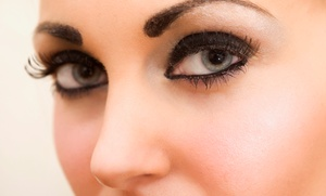 Afsan Permanent Makeup: Permanent Eyeliner for The Top or Lower Lid, or for the Eyebrows at Afsan Permanent Makeup (Up to 70% Off)