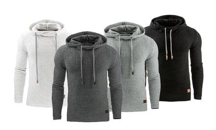Men's SlimFit Textured Hoodie