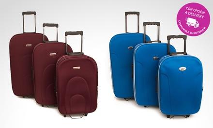 340e3f2be Desde $1979 en vez de $3279 por set de 3 valijas semi rígidas con delivery o