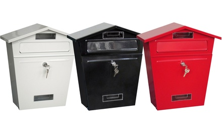 Lockable Post Box in Choice of Colours